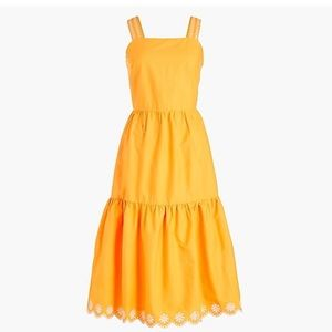 J. Crew Factory Cotton Embroidered Dress